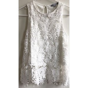 Cute white top size small